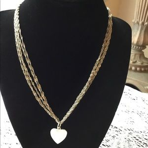 Sterling Silver Necklace With Tiffany Heart